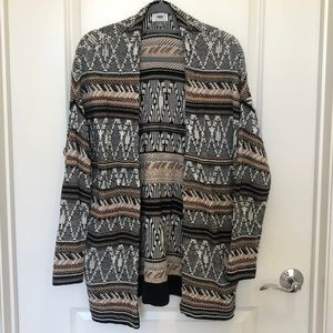 Patterned Cardigan, Styled Long